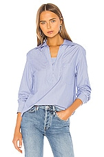 A.P.C. Roma Blouse in Bleu