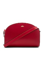 A.P.C. Sac Demi Lune Crossbody in Rouge Fonce