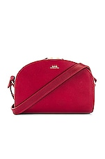 A.P.C. Sac Demi Lune Mini Bag in Rouge Fonce