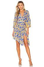 APIECE APART Short Bougainvillea Wrap Dress in Sun
