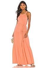 APIECE APART Escondido Tiered Dress in Summer Melon