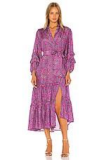 APIECE APART Gracia Flamenca Dress in Plum Potpourri