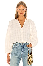 APIECE APART Nanook Shirred Button Up in Cream