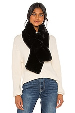 Apparis Luna Faux Fur Scarf in Noir