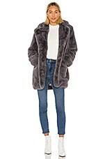 Apparis Sophie Faux Fur Coat in Carbon