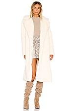 Apparis Mona Faux Fur Coat in Ivory