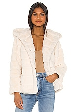 Apparis Goldie Faux Fur Jacket in Ivory
