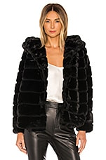 Apparis Goldie Faux Fur Jacket in Noir