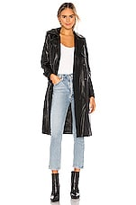 Apparis Lucia Vegan Leather Trench in Black