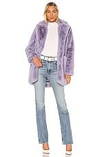 Apparis Sophie Faux Fur Coat in Lilac