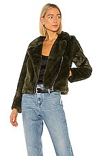Apparis Tukio Faux Fur Jacket in Army Green