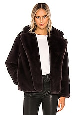 Apparis Manon Faux Fur Coat in Eboni