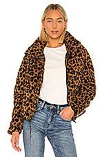 Apparis Paula Puffer Jacket in Chocolat Leopard