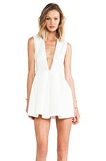 AQ/AQ Upper Mini Dress in Cloud Cream