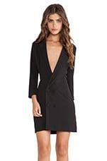 AQ/AQ Genesis Long Line Tuxedo Dress in Black