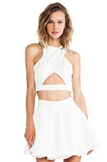 Monica Crop Top in Cream