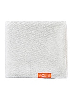 AQUIS Lisse Luxe Hair Towel in White