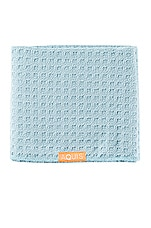 AQUIS Waffle Luxe Hair Towelin Dream Boat Blue