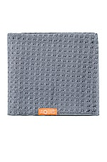 AQUIS Waffle Luxe Hair Towel in Moody Grey