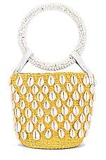 Aranaz Kaia Mini Bucket Bag in Yellow