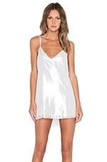 ARE YOU AM I Zillah Slip Dress in Silver