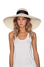 Artesano Playa Hat in Natural & Black
