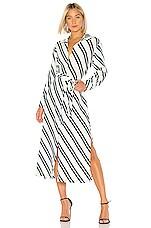 ASCENO Long Shirt Dress in Diagonal Stripe