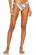 ASCENO Classic Bikini Bottom in Blue Diagonal Stripe