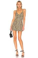 Adam Selman Sport Mini Dress in Honey Leopard