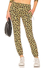 Adam Selman Sport Sweatpant in Honey Leopard