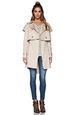 Textured Cotton Jacket in Taupe