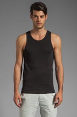 Banded Tank in Black