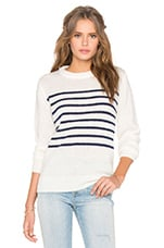 Mohair Crew Neck Knit Top en Clear Stripe Knit