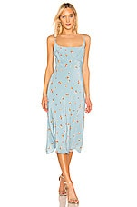 ASTR the Label Joan Dress in Sky Blue Pansy