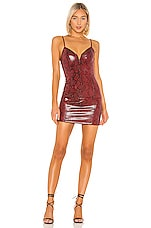 ASTR the Label Come Slither Dress in Ruby Python