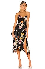 ASTR the Label Gaia Dress in Black Multi Floral