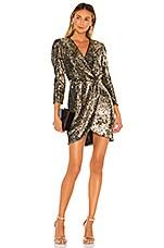 ASTR the Label Selene Dress in Gold Leopard Sequin