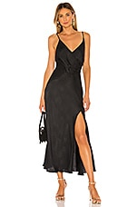 ASTR the Label Bastille Dress in Black Python