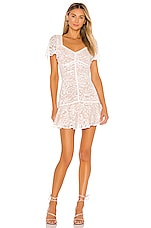 ASTR the Label So Smitten Dress in White & Nude
