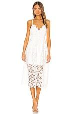 ASTR the Label Lace A Line Midi Dress in White