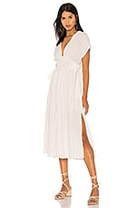 ASTR the Label Sierra Dress in White & Taupe Stripe