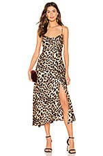 ASTR the Label Cowl Strappy Dress in Leopard Print