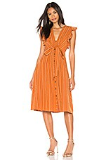 ASTR the Label Saturate Dress in Papaya Stripe