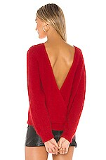 ASTR the Label Serena Sweater in Cherry Red