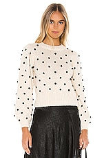 ASTR the Label Aidy Sweater in Cream Black Dot