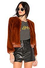 ASTR the Label Frankie Faux Fur Jacket in Spice