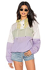 ASTR the Label Sawyer Windbreaker Jacket in Pastel Color Block