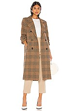 ASTR the Label Vernon Coat in Chestnut Plaid