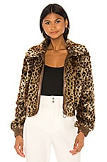 ASTR the Label Faux Fur Remy Jacket in Leopard Shadow