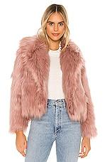 ASTR the Label Adair Faux Fur Jacket in Dusty Pink